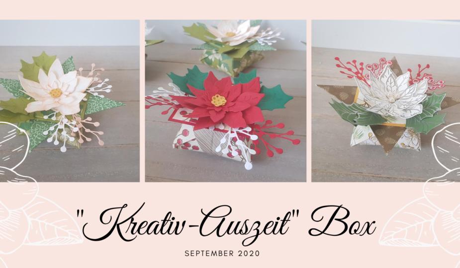 Kreativ Auszeit Box September 2020 Origami Stern Box Weihnachtsblüten Stampin Up