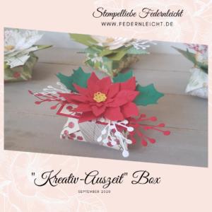 Kreativ Auszeit Box Origami Sternenbox mit Video Anleitung