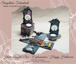 Explosionsbox Happy Halloween mit Stampin Up